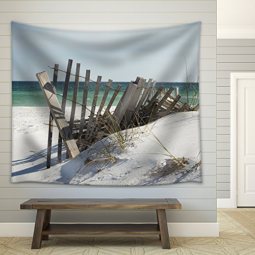 Beach Fence near Pensacola Beach Florida Fabric Wall