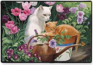 product image for Fiddler's Elbow Buggy and Juliette Tabby and White Cat Doormat Mat Rug