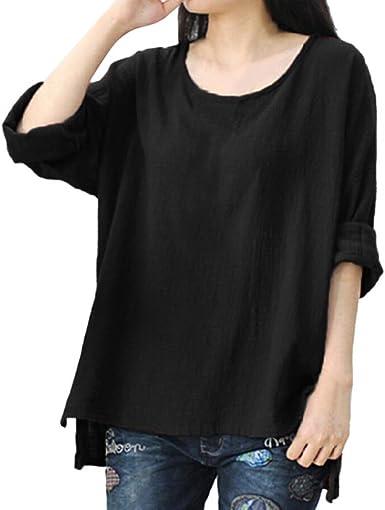 SHOBDW Mujeres Camisetas de Talla Grande V-Collar de Manga Corta Sueltan la Camisa Atractiva del Cordón de Las Tapas de la Blusa Tops: Amazon.es: Ropa y accesorios