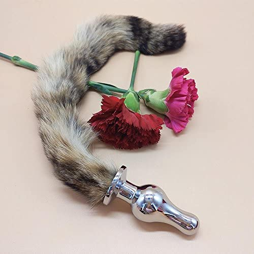 Sayla Sexy Spielzeug für Damen 4.1 * 11cm Aluminiumlegierung Anal Plug Fuchsschwanz Butt Plug Anal Sexspielzeug Anal Tail Plug