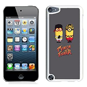 New Pupular And Unique Designed Case For iPod Touch 5 With Minion Fighter Iphone Wallpaper White Phone Case