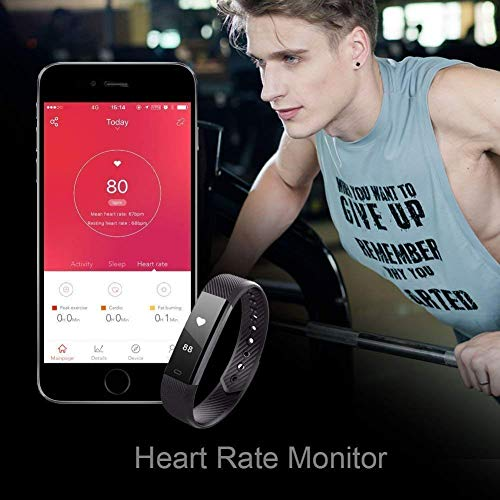 Large Product Image of LETSCOM Fitness Tracker HR, Activity Tracker with Step Counter and Calorie Counter Watch Pedometer, Slim Heart Rate Monitor Watch for Kids Women Men