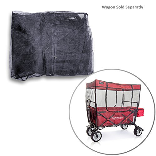 WonderFold Outdoor Mosquito Net for Canopy Folding Wagon – Insect Bug Netting ONLY