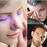 HHei_k LED glitter Eyelashes Eyelashes Fashion Fun Fun Fake Eyelash Bar Club Bar Party (Blue)
