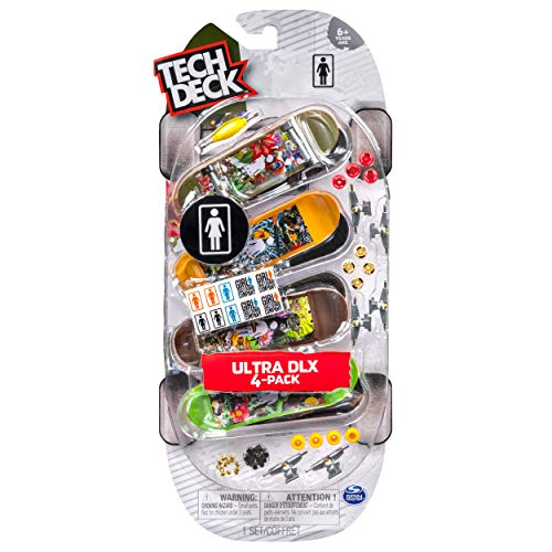 Tech Deck Ultra DLX 4 Pack Girls Skateboard Company from Little Folks