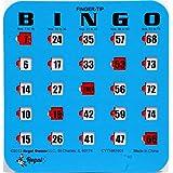 Regal Games 25 Blue Fingertip Shutter Slide Bingo Cards
