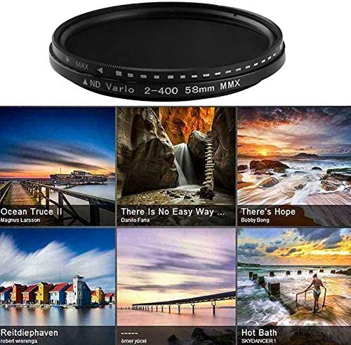 Tenrry Fader Variable ND Filter Adjustable ND2 to ND400 Neutral Density for Camera Lens