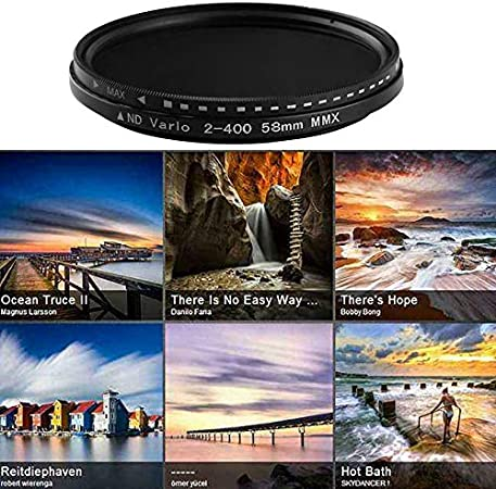 RollingBronze Fader Variable ND Filter Adjustable ND2 to ND400 Neutral Density for Camera Lens