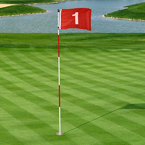 Green Golf Flags - HLC Golf Green Hole-Cup with Target Flag