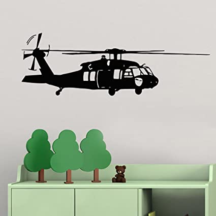 Amazon.com: Military Helicopter Wall Decal for Children\'s Room Home ...