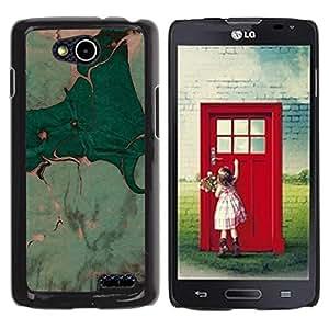 For LG OPTIMUS L90 / D415 Case , Leaves Watercolor Painting Art - Diseño Patrón Teléfono Caso Cubierta Case Bumper Duro Protección Case Cover Funda