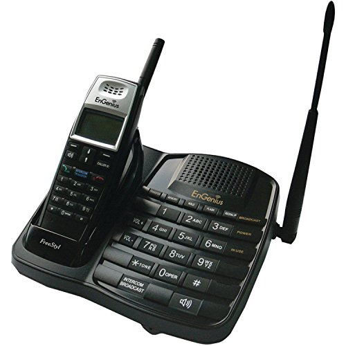 EnGenius FreeStyl1 Extreme Range Scaleable Cordless Phone System with 1 Handset, 2-Way Intercom
