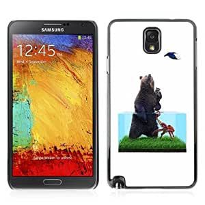 YOYOSHOP [Funny Bear Illustration] Samsung Galaxy Note 3 Case