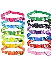 Auxsoul 12 Pcs Cat Collar with Bell Puppy ID Collars Unbreakaway Cat Collar Identification Collars for Newborn Pets