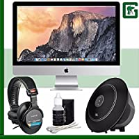Apple 27 iMac with Retina 5K Display (Late 2014) + Sony MDR-7506 Headphone + JBL Voyager Portable Wireless Bluetooth Speaker (Black) Greens Camera Bundle 30