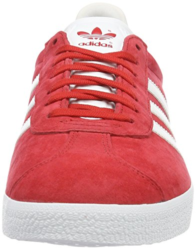 adidas Gazelle, Zapatillas Unisex Adulto Rojo (Power Red/White/Gold Metallic)