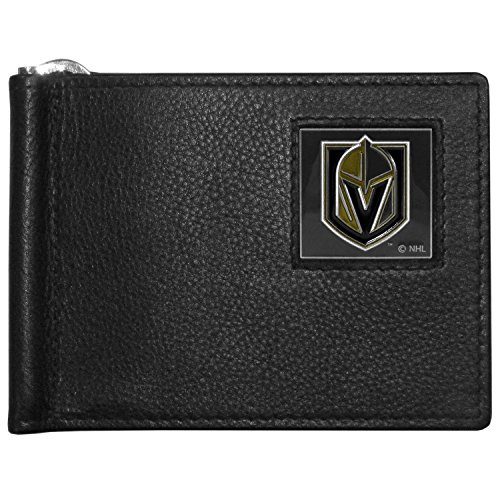 Siskiyou NHL Vegas Golden Knights Mens Leather Bill Clip Wallet, Bi-fold