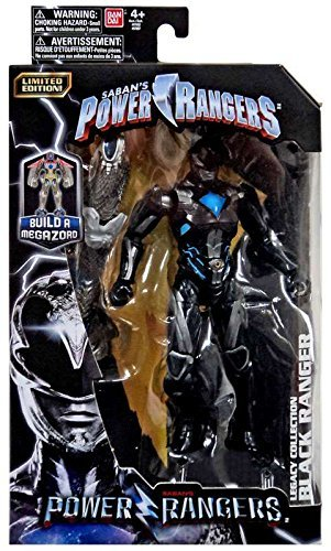 Limited Edition Mighty Morphin Power Ranger Legacy Movie Figures Toys R Us Exclusive Black Ranger ()