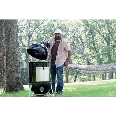 Weber 711001 Smokey Mountain Cooker 14-Inch Charcoal Smoker, Black by Weber