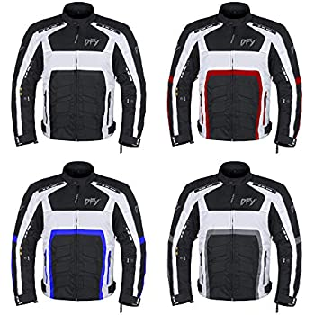 Red, 4XL Motorcycle Jackets for Men Defy Motorbike Biker Riding Jacket Textile Waterproof CE ARMORED
