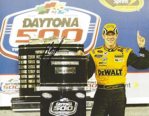 AUTOGRAPHED 2009 Matt Kenseth #17 DeWalt Racing DAYTONA 500 RACE WIN (Victory Lane Trophy) Roush Team Sprint Cup Series Signed Collectible Picture NASCAR 9X11 Inch Glossy Photo with ()