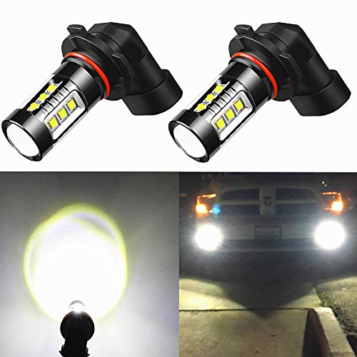 Alla Lighting PY20D H10 9145 LED Fog Lights Bulbs Xtreme Super Bright 9145 LED Bulb 80W High Power Osram Chipsets LED 9145 Bulbs 12V 9140 9045 9145 H10 LED Fog Light Bulbs Replacement, 6K Xenon White
