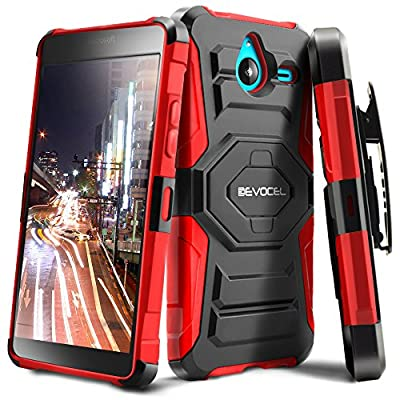 Evocel® Microsoft Lumia 640 XL Case - Dual Layer [New Generation] Rugged Holster Case with Kickstand and Belt Swivel Clip Nokia Lumia 640 XL - Retail Packaging by Evocel