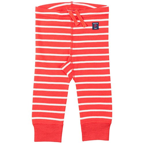 Polarn O. Pyret Merino Wool Stripe Long Johns (Newborn) - Poppy Red/2-6 (Stripe Long Johns)