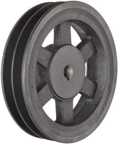 Martin 2BK62 1 FHP Sheave BS, 4L/5L or B Belt Section, 2 Grooves, 1