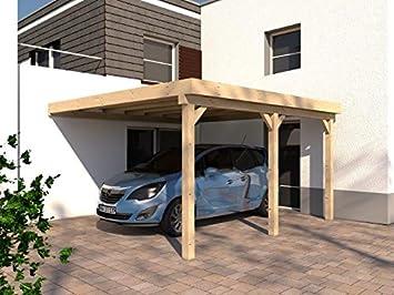 Anlehncarport Carport HARZ V 400x500cm Leimbinder Fichte +  PVC Dacheindeckung