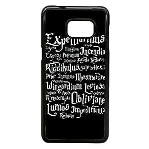 Harry Potter Spells Lista Az T1L25L1AP funda Samsung Galaxy Note 5 del caso del borde negro funda SF0136