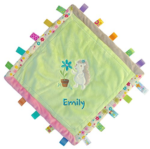 Custom Embroidered Petals Hedgehog Taggies Cozy Blanket