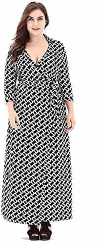 641c929f9dc6 Plus Size Dress Women Clothing Long Sleeve Long Dress Muslim Kaftan Caftan  Casual Abaya Wrap Bohemian