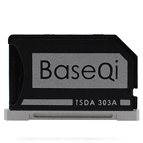 BASEQI Aluminum microSD Adapter for MacBook Pro Retina 13'' by BaseQi