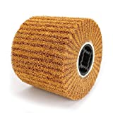 120x100mm Non-Woven Abrasive Flap Wire Drawing Polishing Burnishing Wheel for The Surface Treatment of Metal Products 120 Grit