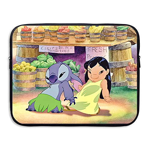 Cool Lilo 13 And 15 Inch Water-Resistant Laptop Sleeve Case Bag/Notebook Computer Case/Briefcase Carrying Bag/Skin Cover For Acer/Asus/Dell/Fujitsu/Lenovo/HP/Samsung/Sony/Toshiba/Ipad - Fire King Laptop