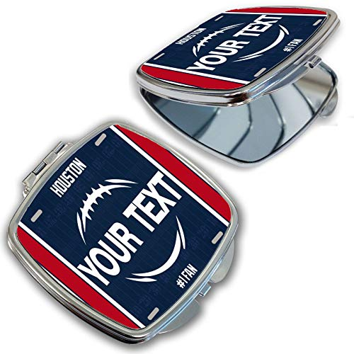 BRGiftShop Customize Your Own Football Team Houston Compact Pocket Cosmetic -