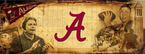 Alabama Crimson Tide Bama Sports Wall Mural Wallpaper 4' x 10' by Sport Walls
