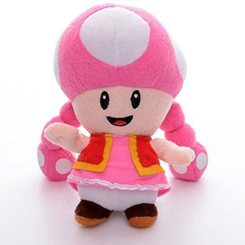 "Super Mario Bro Plush 6.3"" / 16cm Toadette Character Doll Stuffed Animals Cute Soft Anime Collection Toy"