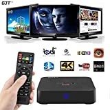 GJT MXQ Plus 4K Android TV BOX Amlogic S905 Quad-Core Android 5.1 1G RAM 8G ROM Smart Streaming Media KODI XBMC with HDMI WiFi Full Loaded TV Box(MXQ PLUS)