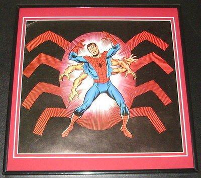 Amazing Spiderman Peter Parker Original Framed 1978 Marvel Poster 12x12