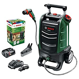 Bosch Fontus 06008B6070 Cordless Outdoor Pressure Washer Cleaner, with 15 Litre Water Tank (1 Battery, 18 Volt System…
