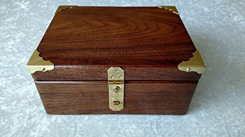 Walnut Stash Box, Wooden Keepsake Box