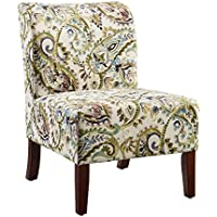 Linon Julie Curved Back Slipper Chair