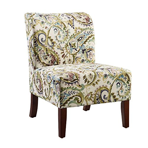 Julie Living Room (Linon Julie Curved Back Slipper Chair)
