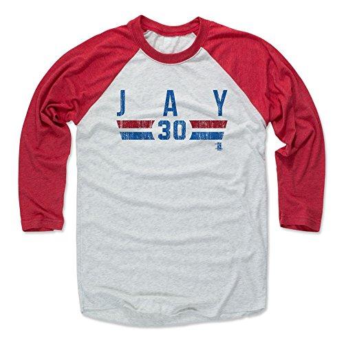 500 LEVEL's Jon Jay Baseball Shirt Medium Red / Ash - Chicago Baseball Fan Apparel - Jon Jay Chicago Font B