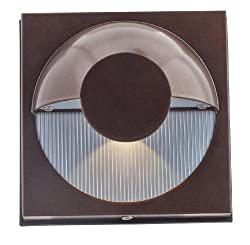 Access Lighting 23061mg-brzfst Zyzx 1-light Wet Location Wallwasher, Bronze With Frosted Glass