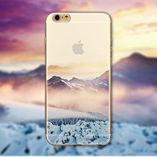 Coque iPhone 7 Plus Housse étui-Case Transparent Liquid Crystal en TPU Silicone Clair,Protection Ultra Mince Premium,Coque Prime pour iPhone 7 Plus-Paysage-style 26