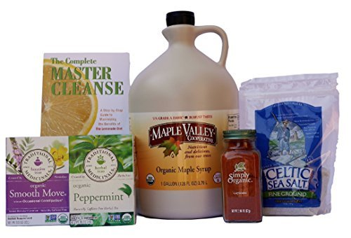 Maple Valley 16 Day Organic Master Cleanse Lemonade Detox/ Diet Kit with Book The Complete Master Cleanse by Maple Valley / Organic Maple Cooperative by Maple Valley / Organic Maple Cooperative