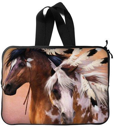 Mejor elegante caballo de Guerra de la India 13 pulgadas mango portátil/ordenador portátil manga